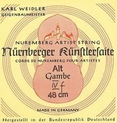 NÜRNBERGER VIOLA DA GAMBE-STRINGS KUENSTLER ROPE CORE. CHROME STEEL WOUND