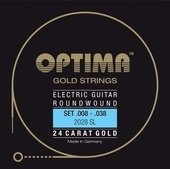 OPTIMA CUERDAS  PARA GUITARRA ELÉCTRICA GOLD STRINGS ROUND WOUND