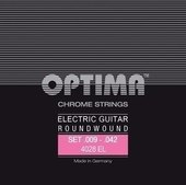 OPTIMA CUERDAS  PARA GUITARRA ELÉCTRICA CHROME STRINGS. ROUND WOUND
