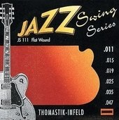 THOMASTIK STRUNY DO GITARY ELEKTRYCZNEJ JAZZ SWING SERIES NICKEL FLAT WOUND