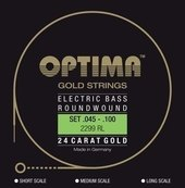 OPTIMA CUERDAS  PARA BAJO  ELÉCTRICO GOLD STRINGS ROUND WOUND