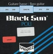 SAVAREZ STRINGS FOR ELECTRIC BASS BLACK SUN NICKEL. HALF ROUND. POLISHED