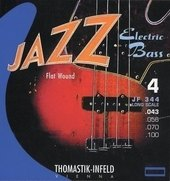 THOMASTIK-INFELD E-BASS STRINGS JAZZ BASS SERIES NICKEL FLAT WOUND ROUND CORE