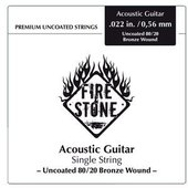 GEWA STRINGS FOR ACOUSTIC GUITAR FIRE&STONE SINGLE STRINGS 80/20 BRONZE WOUND