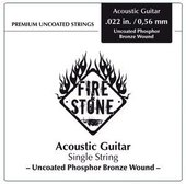 GEWA STRINGS FOR ACOUSTIC GUITAR FIRE&STONE SINGLE STRINGS PHOSPHOR BRONZE WOUND