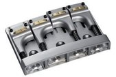 SCHALLER E-BASS BRIDGE 3D-4 PIEZO 4-STRING