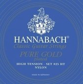 HANNABACH STRINGS FOR CLASSIC GUITAR SERIE 825 HIGH TENSION SPECIALIZED GOLD PLATED