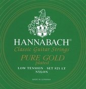 HANNABACH STRINGS FOR CLASSIC GUITAR SERIE 825 LOW TENSION SPECIALIZED GOLD PLATED