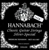 HANNABACH CORDES GUITARE CLASSIQUE SÉRIE 815 F.V.T.S MEDIUM/HIGH TENSION SILVER SPECIAL