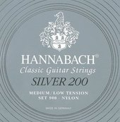 HANNABACH STRINGS FOR CLASSIC GUITAR SERIES 900 MEDIUM/LOW TENSION SILVER 200