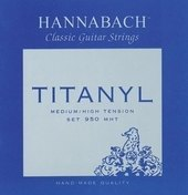 HANNABACH CORZI CHITARA CLASICA SERIES 950 MEDIUM/HIGH TENSION TITANYL