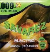 SAVAREZ STRINGS FOR ELECTRIC GUITAR EXPLOSION NICKEL. ROUND WOUND