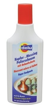 DELU METAL CLEANER BRASS POLISH FOAM
