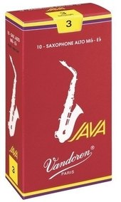 VANDOREN REEDS ALTO SAXOPHONE JAVA FILED RED