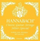 HANNABACH CORDES GUITARE CLASSIQUE SERIE 815 SUPER LOW TENSION SILVER SPECIAL