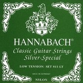 HANNABACH CORDES GUITARE CLASSIQUE SERIE 815 LOW TENSION SILVER SPECIAL