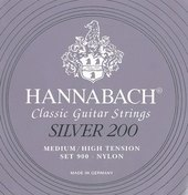 HANNABACH STRINGS FOR CLASSIC GUITAR SERIES 900 MEDIUM/HIGH TENSION SILVER 200
