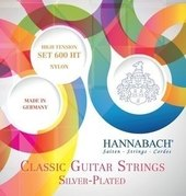 HANNABACH KLASSIKGITARRENSAITEN SERIE 600 HIGH TENSION VERSILBERT
