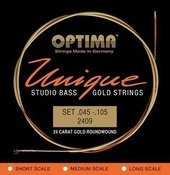 OPTIMA E-BASGITAARSNAREN UNIQUE STUDIO GOLD STRINGS