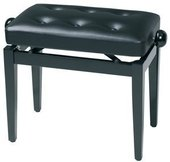 GEWA PIANO BENCH BLACK HIGH GLOSS