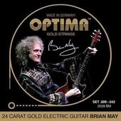 OPTIMA E-GITAARSNAREN GOLD STRINGS ROUND WOUND
