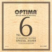 OPTIMA CORDES GUITARE CLASSIQUE NO. 6 SPECIAL SILVER, ARGENT SPÉCIAL