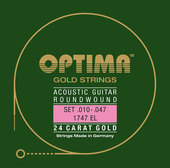 OPTIMA STRINGS FOR E-GUITAR GOLD STRINGS. MAXIFLEX
