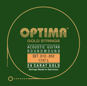 OPTIMA STRUNY DO GITARY AKUSTYCZNEJ GOLD STRINGS