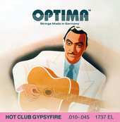 OPTIMA -KIELET AKUSTISELLE KITARALLE HOT CLUB GYPSYFIRE, HOPEOITU