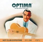 OPTIMA AKUSTISEN KITARAN KIELET HOT CLUB GYPSYFIRE, HOPEOITU