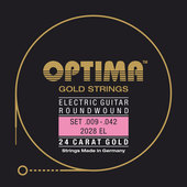 OPTIMA SÄHKÖKITARAN KIELET GOLD STRINGS ROUND WOUND