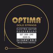 OPTIMA ELEKTRISCHE GITAARSNAREN GOLD STRINGS ROUND WOUND