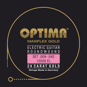 OPTIMA СТРУНЫ ДЛЯ ЭЛЕКТРОГИТАРЫ GOLD STRINGS. MAXIFLEX