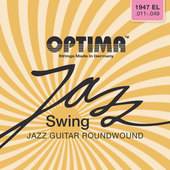 OPTIMA CUERDAS  PARA GUITARRA ELÉCTRICA JAZZ SWING SERIES ROUND WOUND