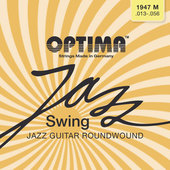 OPTIMA STRINGS FOR ELECTRIC GUITAR JAZZ SWING SERIES ROUND WOUND