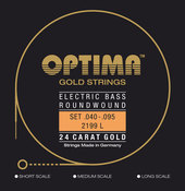 OPTIMA STRINGS FOR ELECTRIC BASS GOLD STRINGS ROUND WOUND