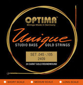 OPTIMA STRINGS FOR ELECTRIC BASS UNIQUE STUDIO GOLDEN STRINGS