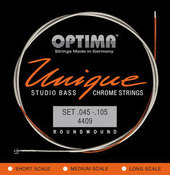 OPTIMA CORDE  PER BASSO ELETTRICO UNIQUE STUDIO CHROME STRINGS
