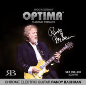 OPTIMA CORDES  POUR GUITARES ÉLECTRIQUES CHROME STRINGS ROUND WOUND RANDY BACHMAN SIGNATURE