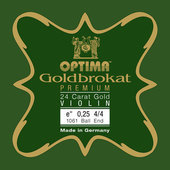 OPTIMA STRINGS FOR VIOLIN GOLDBROKAT PREMIUM 24 KARAT GOLD