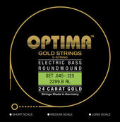 OPTIMA -KIELET SÄHKÖBASSOLLE GOLD STRINGS ROUND WOUND