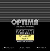 OPTIMA -KIELET SÄHKÖBASSOLLE CHROME STRINGS ROUND WOUND LONG SCALE