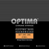 OPTIMA E-BASGITAARSNAREN CHROOM STRINGS. ROUND WOUND MEDIUM SCALE