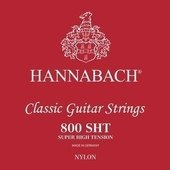 HANNABACH KLASSISEN KITARAN KIELET SERIE 800 SUPER HIGH TENSION HOPEOITU