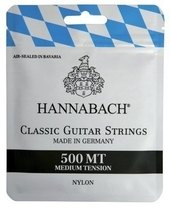 HANNABACH CORDES GUITARE CLASSIQUE SERIE 500 MEDIUM TENSION