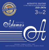 ADAMAS STRINGS FOR ACOUSTIC GUITAR NUOVA PHOSPHOR BRONZE COATED SET (3)