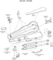 GEWA FORM SHAPED VIOLIN CASE LIUTERIA MAESTRO