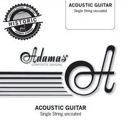 ADAMAS CORZI PT CHITARA ACUSTICA SINGLE STRINGS UNCOATED PLAIN - BARE STEEL STRINGS
