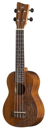 GEWA SOPRAAN UKULELE MANOA KALEO TATTOO KT-SO-MAORI