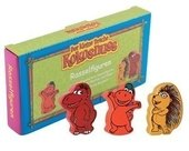 DER KLEINE DRACHE KOKOSNUSS PERCUSSION RASSELFIGUREN 3ER SET